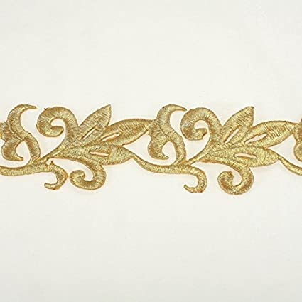 price for 1 yard Amazing Metallic Gold Emroidery Lace Trim//ribbon