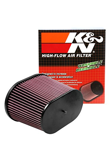 K&N RC-5178 Universal Clamp-On Air Filter: Oval Straight; 3.688 in (94 mm) Flange ID; 7.875 in (200 mm) Height; 10.25 in x 7.188 in (260 mm x 183 mm) Base; 9 in x 5.375 in (229 mm x 137 mm) Top