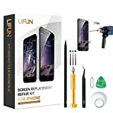 s2 full housing - Screen Replacement for iPhone 7 in Black 4.7'',Including All Tools,Instruction,2 Screen Protectors, Repair Kit With Digitizer LCD Touch Screen Frame Assembly (Black, iPhone 7, 4.7inch)