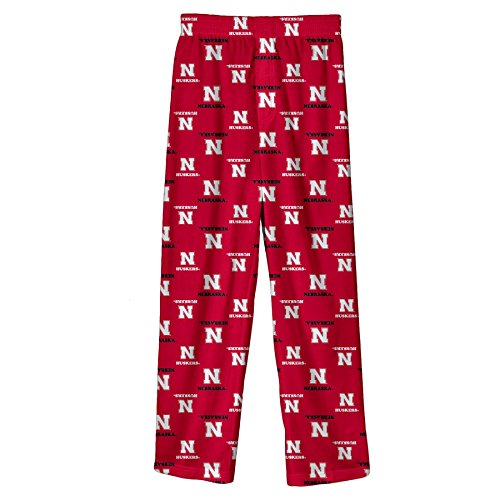 NCAA by Outerstuff NCAA Nebraska Cornhuskers Youth Boys Team Color Printed Pant, Red, Youth -