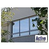 Silver Reflective Window Film (Solar Control & Privacy Tint - One Way Mirror / Mirrored Glass) (50cm x 1 Metre)
