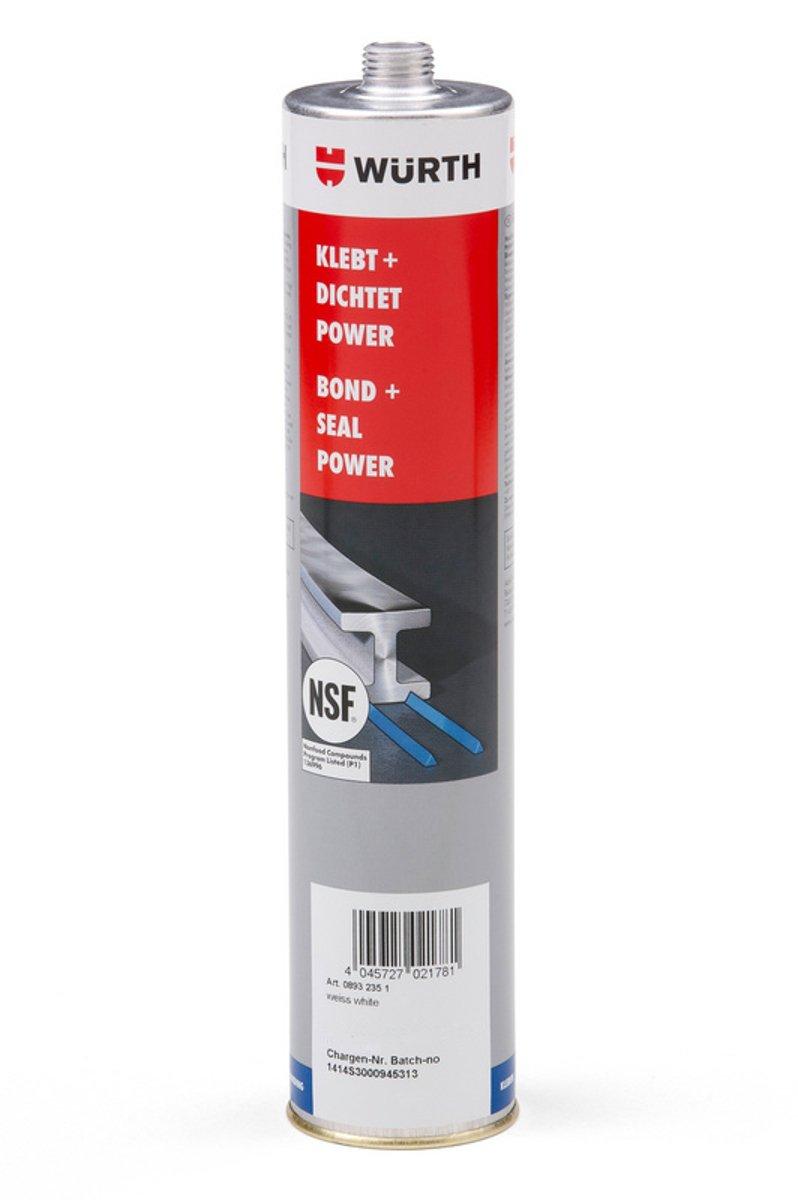 Wü rth progettazione colla incolla + sigilla Power Nero Bianco Grigio 300 ml colla Würth