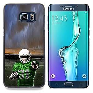 - 31 Football Player - - Cubierta del caso de impacto con el patr??n Art Designs FOR Samsung Galaxy S6 Edge Plus Queen Pattern
