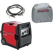 Honda EU3000I Handi 3000W 120V Inverter Gas Generator, Parallel Cord, Cover