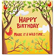 American Greetings Wild Time Birthday Card with Music