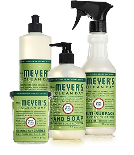 mrsmeyers Iowa Pine Bundle Kitchen Set: Scented Candle, Dish Soap, Hand Soap & Mult-Surface
