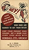 Vintage Advertising Postcard: Kendall Wheel Bearing Grease Advertising
