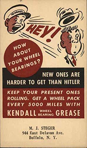 (Vintage Advertising Postcard: Kendall Wheel Bearing Grease Advertising)