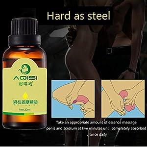 Men Effective ENLARGE Penile Erection Spray Male Extender Sex Delay Spray Enlargement Oil 30ml (Brown)