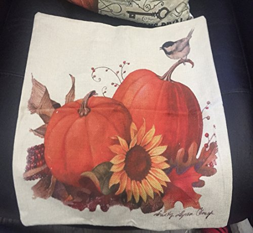 Gotd Halloween Pillows Cover Decorations Decor Halloween Throw Pillow Case Sofa Waist Throw Cushion Cover Home Decor Square 45 x 45cm 18 x 18inch (Beige F) (Halloween Funny Cover Photo)