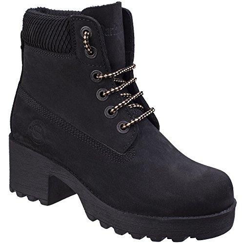 Black Water Ladies Womens Darkwood Pine Boots Resistant Ankle Heeled Walking w6zPt
