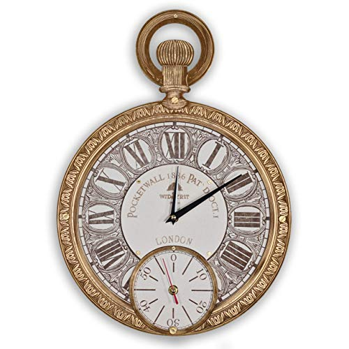 Pocket watch HANDCRAFTED wall clock unique large white clock face wooden wall clock (personalized gift) Antique White Pocket Watch