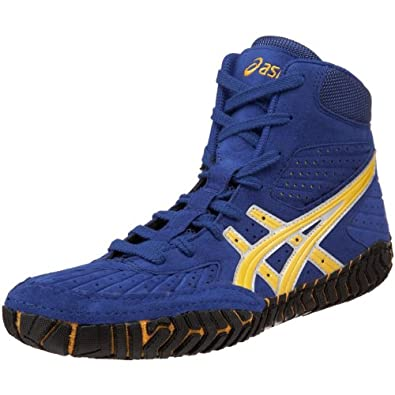 Blue And Gold Mens Wrestling Shoes
