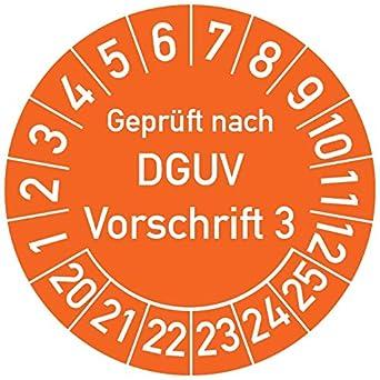 250 St/ück in verschiedenen Farben und Gr/ö/ßen Gepr/üft nach DGUV Vorschrift 3 Pr/üfplakette Pr/üfetikett Pr/üfsiegel Plakette DGUV V3 20 mm /Ø, Blau