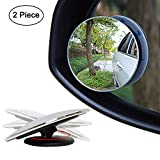 Ampper Blind Spot Mirror, 2' Round HD Glass Frameless Convex Rear View Mirror, Pack of 2