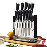 Knife Set by Kniv | 11 Piece Stainless Steel Chef Cutlery in Black Knife Block