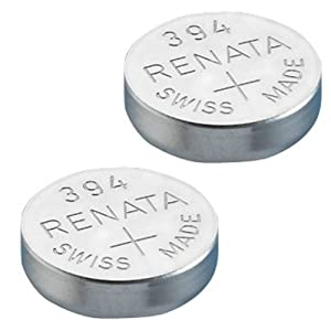 2x Renata Watch Battery - Swiss Made - All Sizes - Silver Oxide Renata Batteries - 315,317,319,321,329,335,337,341,344,346,350,357,361,362,364,366,370,371,373,377,379,381,384,389,390,391,392,393,394,395,396,397 - CR 2450N,1225,1632,1616,1220,1216,2032,1620,2320,2032,2025,2430,2325,2016 (394 (SR936SW))