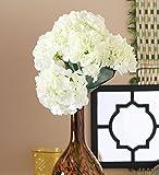 Fourwalls Artificial Polyester Hydrangea Bouquet (24 cm x 24 cm x 54cm, White)