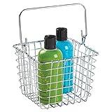 mDesign Handtuchhalter ohne Bohren – ideales Badzubehör zum Aufbewahren von Handtüchern - wird an Tür oder Duschtür gehängt - rostfrei – Farbe: Bronze