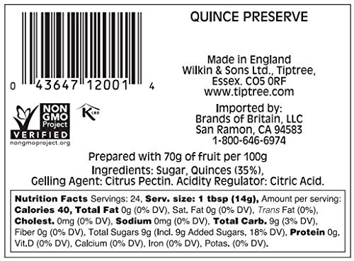 Tiptree Quince Preserve, 12 Ounce (Pack of 6)