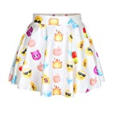 Girls Printed Flared Pleated Mini Skirt US Size 6-10 (Not Fit Kids)
