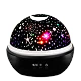 Star Night Light Projector for Kids, Easony Birthday Gifts Cool Fun Toy for 2-10 Year Old Boys Girls Romantic Star Night Light Projector for Bedroom Black ESUSXQ02