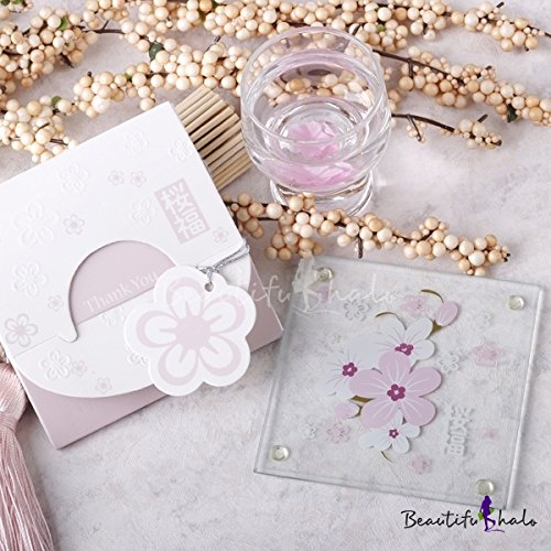 Babies Bloom Cherry Blossom Pink Glass Coaster  Set of 2