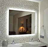 "Mirrors and Marble MAM94836 Commercial Grade 48"" w x36 t Side Lighted LED Bath Vanity Mirror"