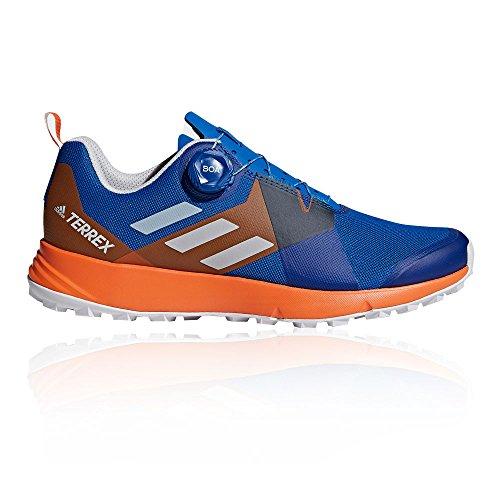 adidas Herren Terrex Two Boa Traillaufschuhe, Blau (Blubea/Greone/Orange 000), 44 EU