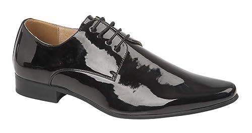 2016 Goor Chaussures de ville vernies à lacets Homme
