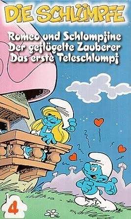 Die Schlumpfe Folge 4 Romeo Und Schlumpfine Der Geflugelte Zauberer Der Erste Teleschlumpf Vhs Schlumpfe Die Amazon De Vhs