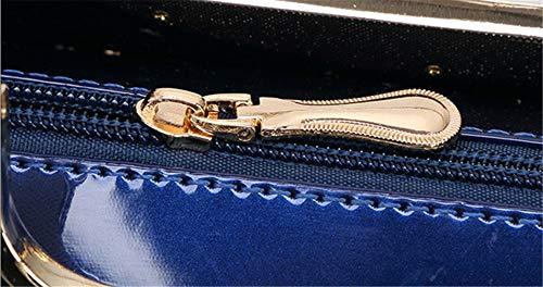 Brillantes Portátil Nupcial Del Lake Artificiales De Bandolera Bolso Patente Cuero Simples Blue Señoras Gules Bolsos Las qA8aw