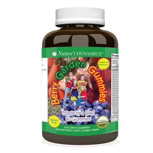 Natures Dynamics Berry jardin d'enfants Assorted multivitamines Gummy Supplément - 60 comptage