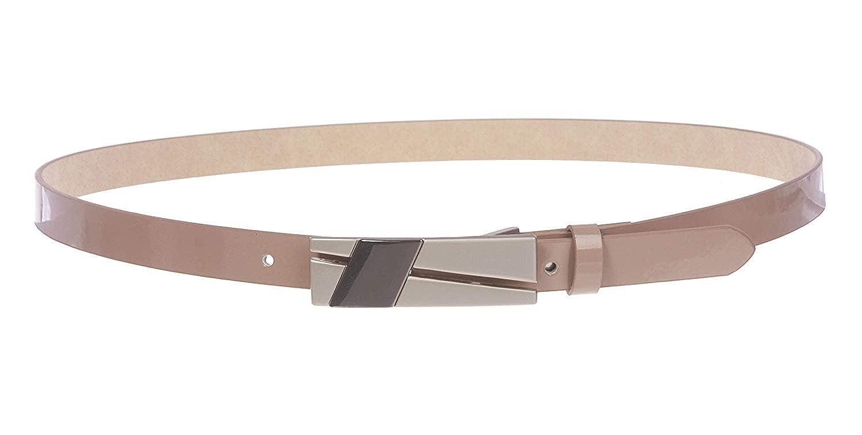 BBBelts Women 3//4 Yellow Faux Leather Snap On Plaque Black Enamel Buckle Belt