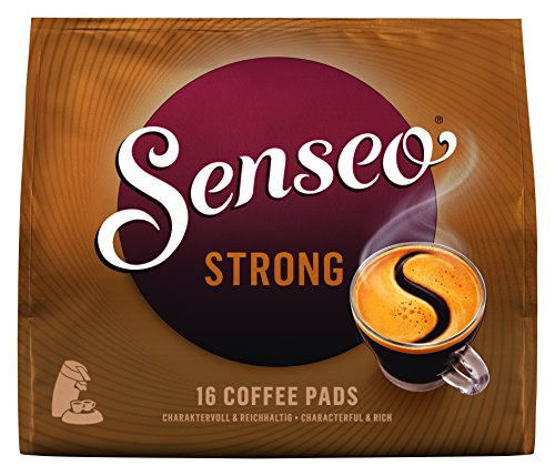 SENSEO Coffee Pods Strong Dark Roast, 160 Pods, 16Count Pods (Pack of 10) for Senseo Coffee Makers, Hot Coffee, Cold Brew Coffee, Espresso