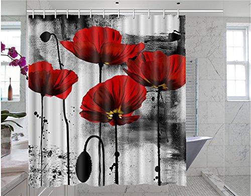 blue zebra print shower curtain - 9