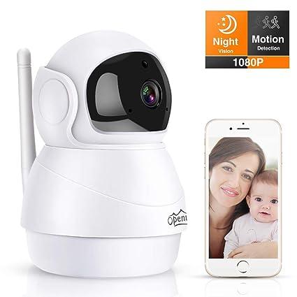 Cámara IP WiFi, Openuye 1080P HD Cámara de Vigilancia Inalámbrico Interior con Visión Nocturna,