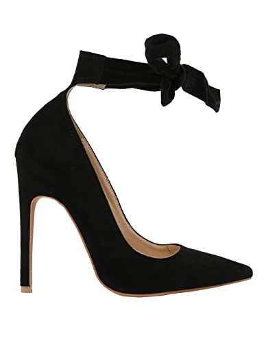 4b10367338e8 PUBLIC DESIRE Women's Muse Tie Detail Heeled Sandals Black in Size US 10