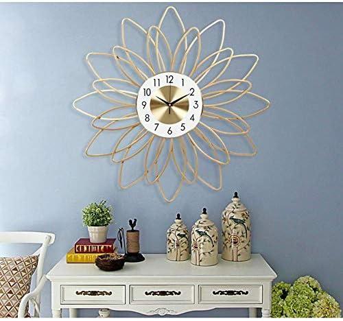 掛け時計 リビングルームの壁時計工芸装飾ライトラグジュアリーミュートアート置時計サイズ54センチメートルの*の54センチメートルハンギングを見ます Yingkou