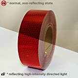 Oralite (Reflexite) V92-DB-COLORS Microprismatic Retroreflective Conspicuity Tape: 2 in. x 50 yds. (Red)