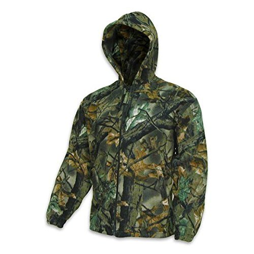 Trail Crest Fleece Hunting Camouflage Full Zip Hooded Sweatshirt (3X-Large) (XL) Camouflage Hooded Sweatshirt