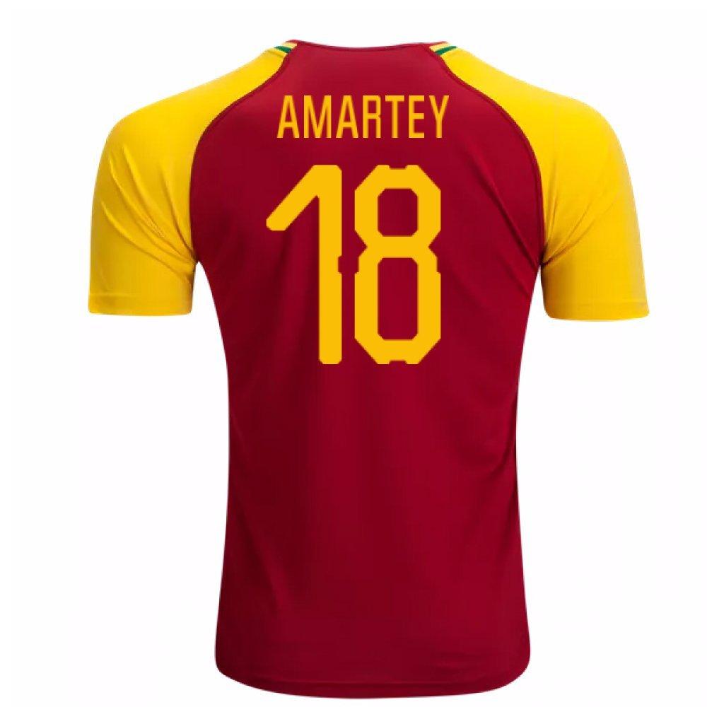2018-19 Ghana Home Football Soccer T-Shirt Trikot (Daniel Amartey 18)