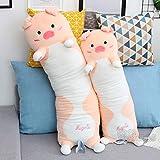 WATOP Stuffed Animals - Teddy Bears    Candice guo! Cute Plush Toy Lovely Heart Pig Hug me Piggy Soft Stuffed Doll Long Body Pillow Cushion Birthday 1pc
