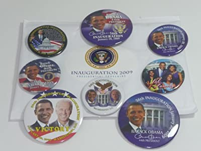 2009 President Obama INAUGURATION BUTTON PACKAGE