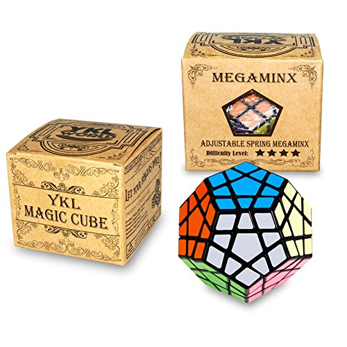 Megaminx 3x3x3 Speed Magic Cube Puzzles,12 Colors Dodecahedron ABS Ultra-smooth Master Speed Twist Cube,Brain...