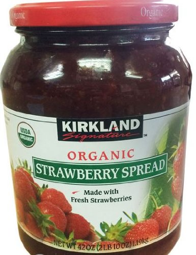 Kirkland Signature Organic Strawberry Spread - 42 Oz (2lb), Made with Fresh Strawberries, 65% Fruit, Preserves, Jam (Organic Strawberry Preserves)