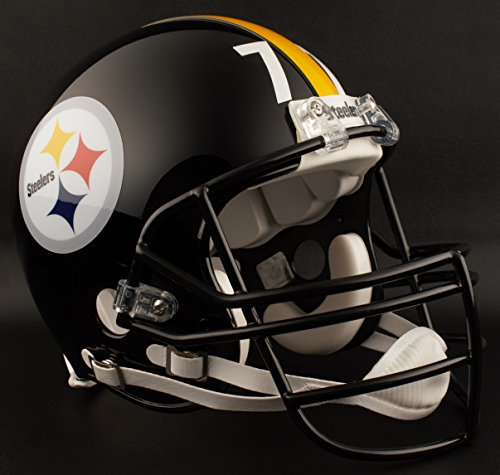 Helmet Throwback Steelers Pittsburgh (Riddell PITTSBURGH STEELERS 1977-1999 NFL REPLICA Throwback Football Helmet w/JOP Facemask)