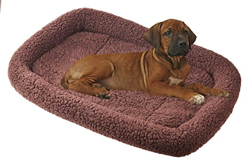 BINGPET Padded Dog Beds Pet Kennel Pad Cat Crate Cushion , Brown Medium 30