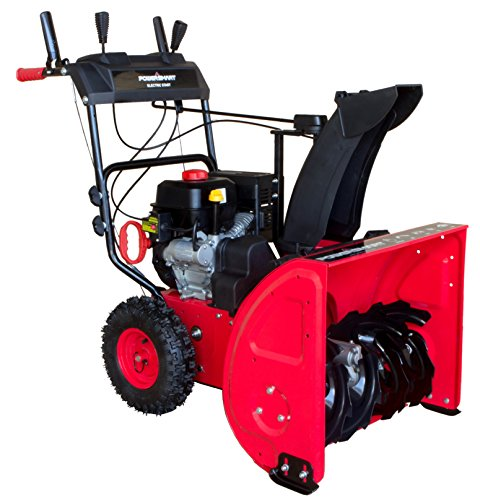 PowerSmart DB7624E 24 in. 212cc 2-Stage Electric Start Gas Snow Blower ()