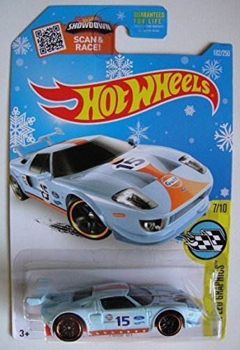 Hot Wheels Hw Speed Graphics Light Blue Ford Gt   Showdown Scan Race